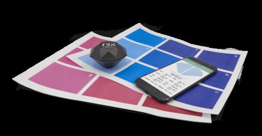 Nix Pro 2 Color Sensor with paint swatches
