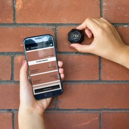 Nix Mini 2 scanning brick wall
