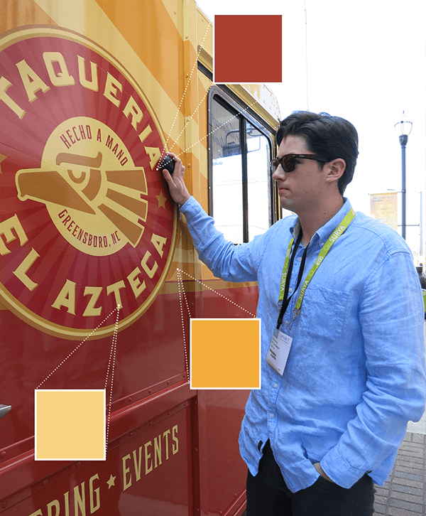 We used the Nix Pro to scan Taqueria El Azteca's food truck