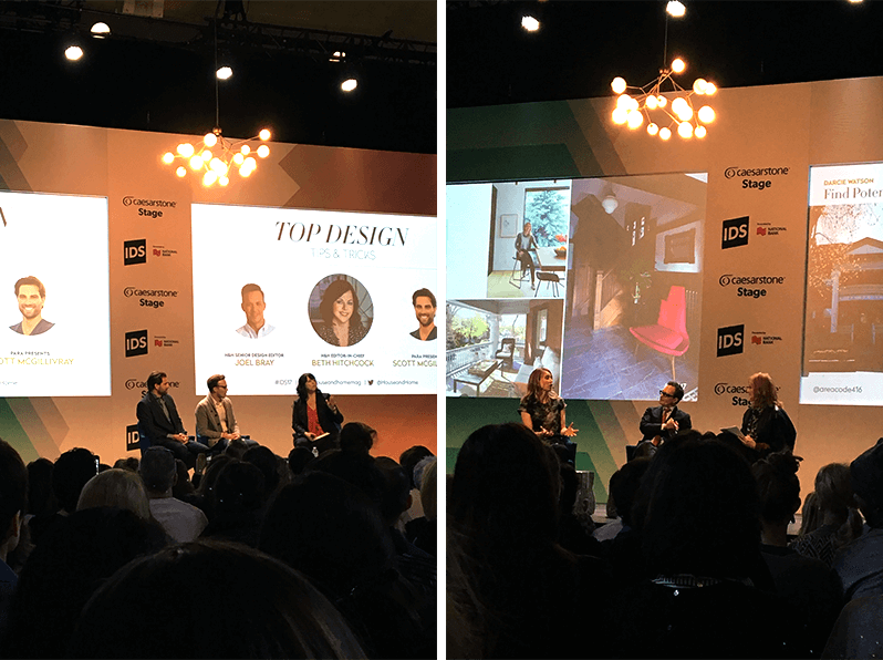 Lynda Reeves, founder of House & Home magazine, interior designer and HGTV host Tommy Smythe, architect/designer Darcie Watson, Beth Hitchcock, Editor-in-Chief and interior designer, Joel Bray from House & Home magazine, and Scott McGillivray – Real Estate Investor, skilled contractor and businessman on HGTV