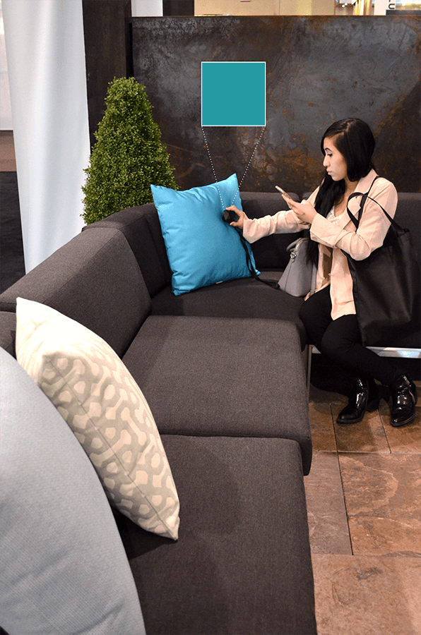 Using the Nix Pro to scan Southport Outdoor Living's throw pillows