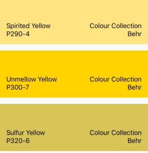 Behr Yellow Color Collection
