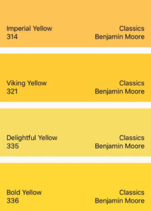 Benjamin Moore Yellow Classics Collection