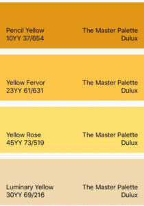 Dulux Yellow Master Collection