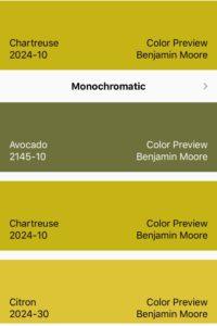 Chartreuse Color Scheme
