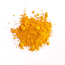 Orpiment crystal pigment