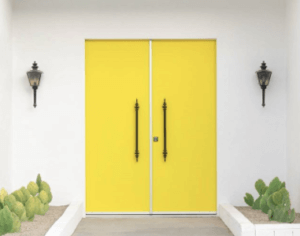 Yellow Palm Spring Doors