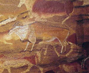 Cave painting from South African - Eland Using Yellow Ochre Pigment