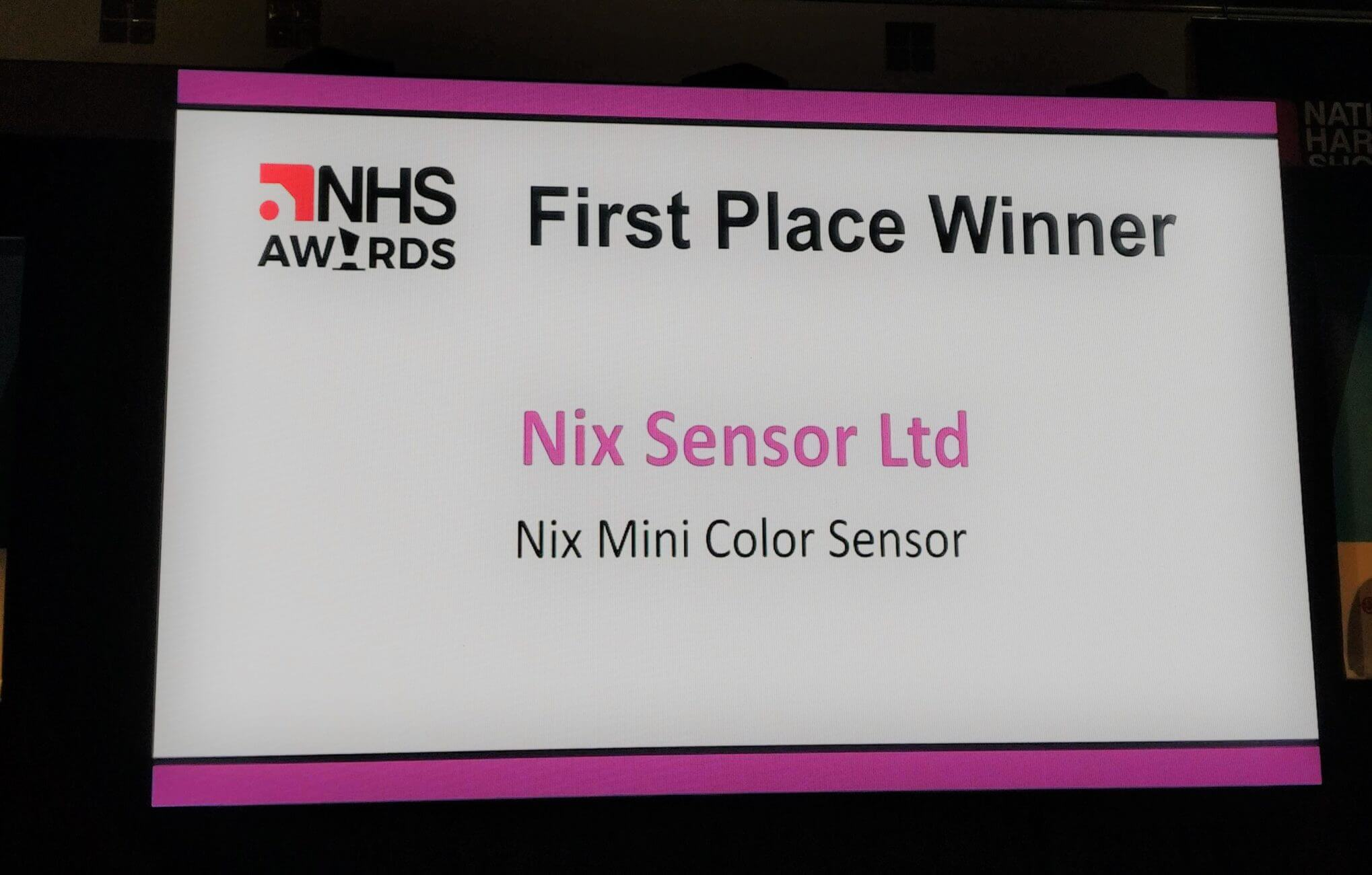 Nix Sensor Ltd. as first place winner for the New Product Launch Award