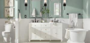 Bathroom finish type