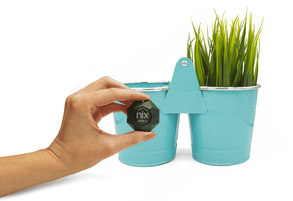 Hand scanning teal planter