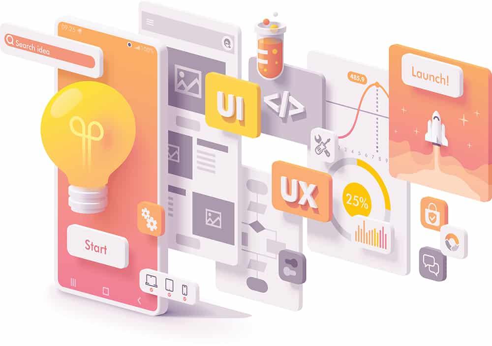user interface development graphic