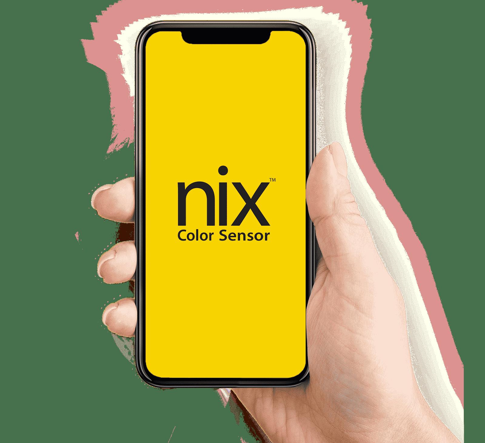 Front page of Nix Color Sensor App